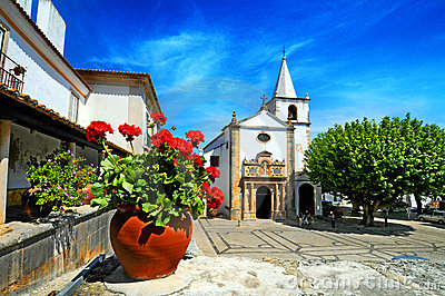 Obidos town Portugal Stock Photo