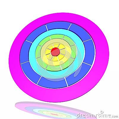 Obiettivo da un arcobaleno