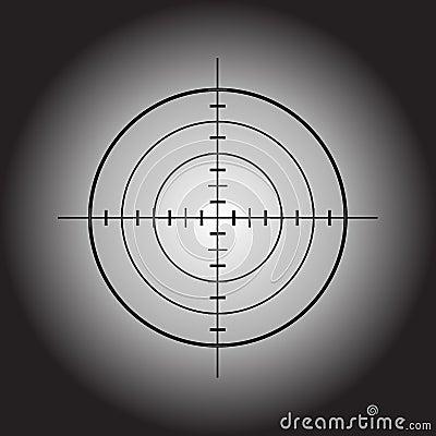 Obiettivo della pistola di vettore