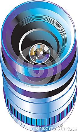 Objective for digital photo camera