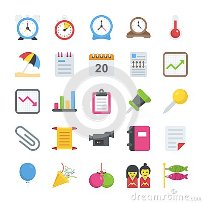 Free Objects Flat Icons Royalty Free Stock Photos - 111739598