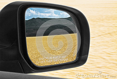 Objects In Mirror Are Closer Than They Appear Desert