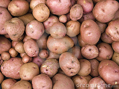 Objects - Red Potatoes Background