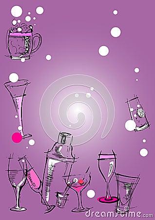 Glasses Background Cartoon