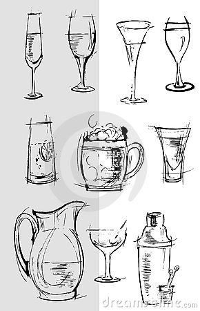 Glasses Background Cartoon sketch drawing