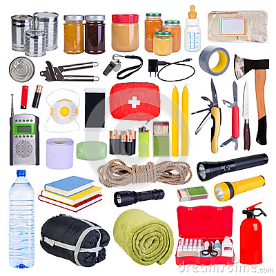 Free Objects Useful In Emergency Situations Such As Natural Disasters Royalty Free Stock Images - 93395849