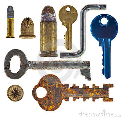Objects on white background