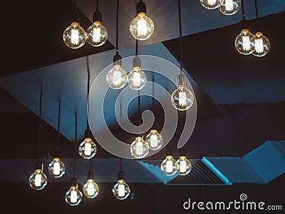 Objet d 39 int rieur de d coration d 39 ampoules photo stock - Objet decoration d interieur ...