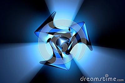 Objeto abstracto del metal