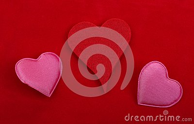 Objetos da decoração do coração.