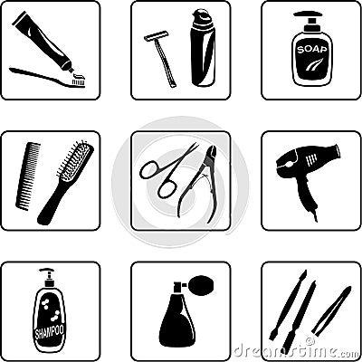 Objetos da higiene pessoal