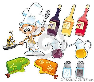 Objetos del cocinero y de la cocina for Objetos de cocina
