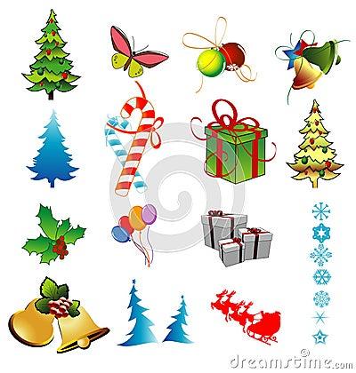 Objetos del vector de la navidad imagen de archivo imagen 6806091 - Objetos de navidad ...
