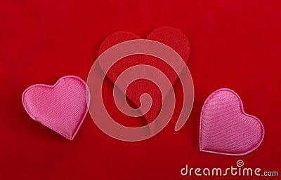 Objets de décoration de coeur.