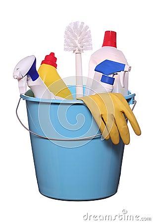 Objets pour faire un nettoyage de printemps