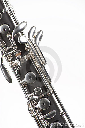 Oboe Isolated On White