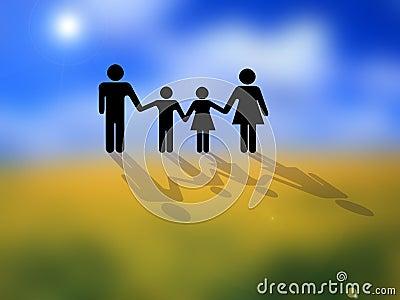 Obraz rodziny konceptualny