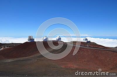 Observatories on Mauna Kea - Big Island, Hawaii
