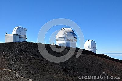 Observatories on Mauna Kea - Big Island, Hawaii