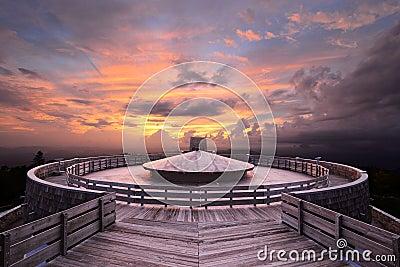 Observatorio de la cima de la montaña