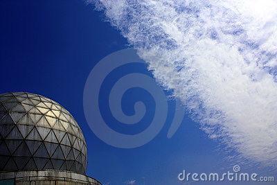Observatory and clouds