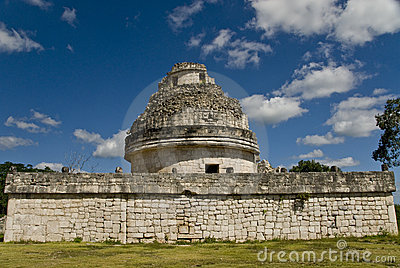 Observatory Ruins at Chichen Itza Mexico