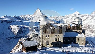 Observatory on top of matterhorn