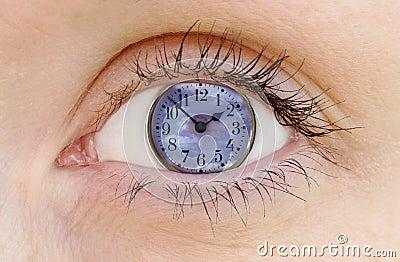 Obserwuje zegar