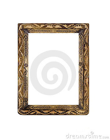 Obsolete Frame for picture or portrait over white