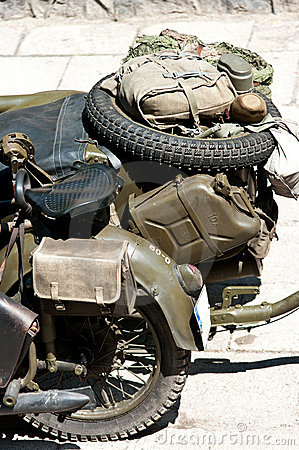 Obsolete military motorcycle