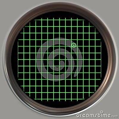 Obsolete radar screen