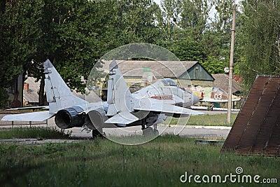 Obsolete Russian fighter