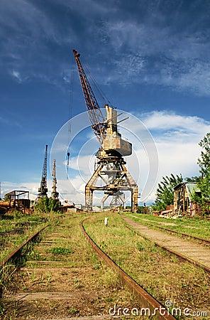 Obsolete ship s crane