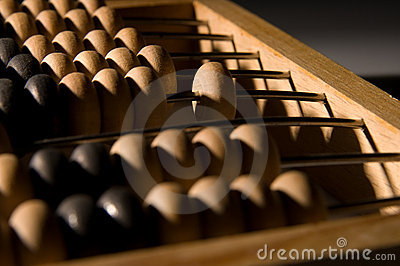 Obsolete wooden abacus