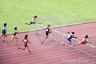 Obstáculos de 100m das mulheres