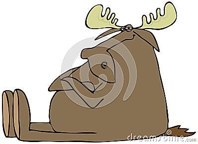 Obstinate moose