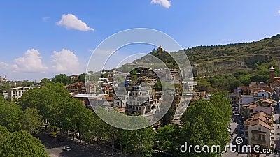 Obszar zamieszkały Tbilisi, do wynajęcia mieszkania dla turystów, dziejowy centrum zbiory wideo