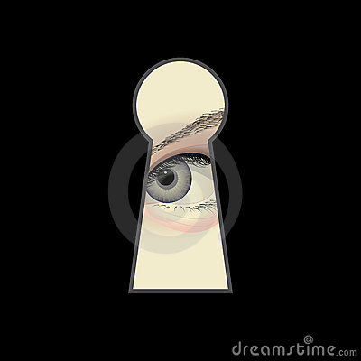 Occhio e buco della serratura