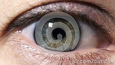 Occhio e spazio video d archivio