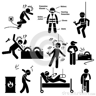 Free Occupational Safety And Health Worker Accident Hazard Pictogram Clipart Stock Photography - 60357712