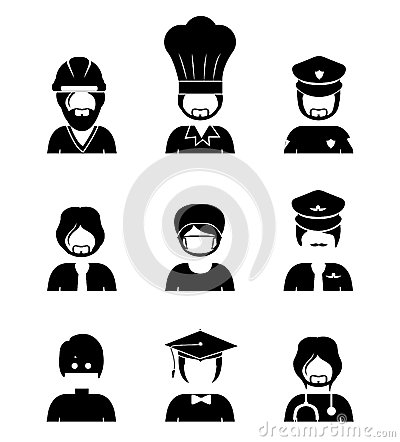 Occupations Design Stock Vector Image 40877906