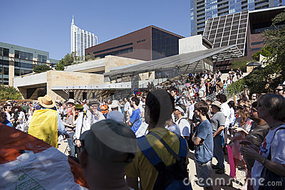 Occupy Austin - October 15 Protest March Editorial Photo