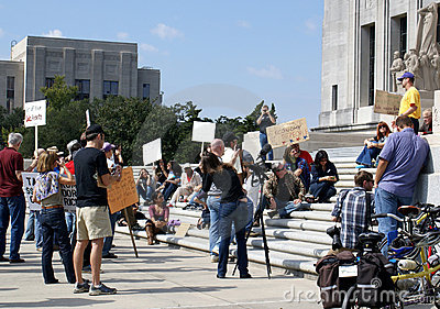 Occupy Baton Rouge Editorial Stock Photo