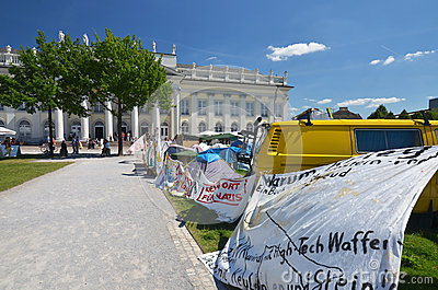 Occupy camp at documenta 2012 Editorial Photography