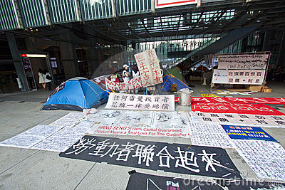 Occupy Central Hong Kong Protest Editorial Image