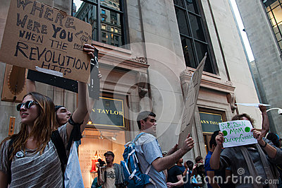 Occupy Chicago Editorial Photo