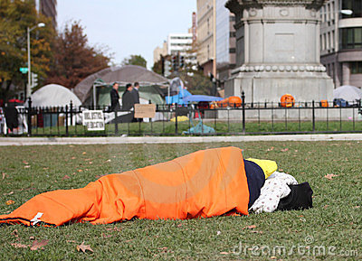 Occupy DC protester on Halloween Editorial Image