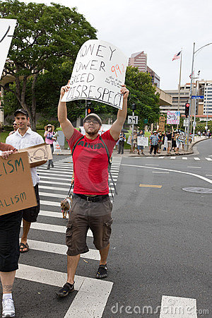 Occupy Honolulu/anti-APEC Protest-38 Royalty Free Stock Image - Image: 21924986