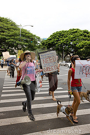 Occupy Honolulu/anti-APEC Protest-49 Editorial Image