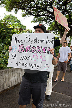 Occupy Honolulu/anti-APEC Protest-55 Editorial Image